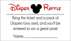Details about 20 Diaper Raffle Tickets - Mickey Mouse Baby Shower