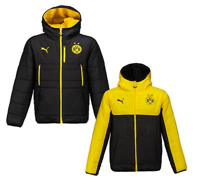 Puma Men Bvb Borussia Dortmund Reversible Jacket Winter Black Padded 749860 02 Ebay