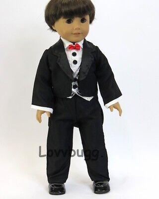 "Debs Tuxedo Suit PANTS SHIRT COAT Doll Clothes For 18/"" American Girl Boy Logan"