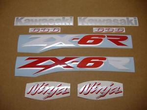 ZX-6R 2003 ninja full decal sticker graphics set kit adesivi zx6r pegatinas 636