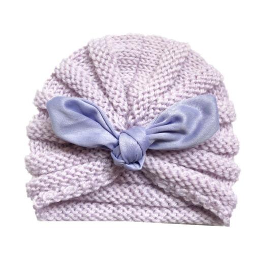 Newborn Baby Boys Girls Knitted Wool Hat Winter Warm Rabbit Ear Headwear Cap