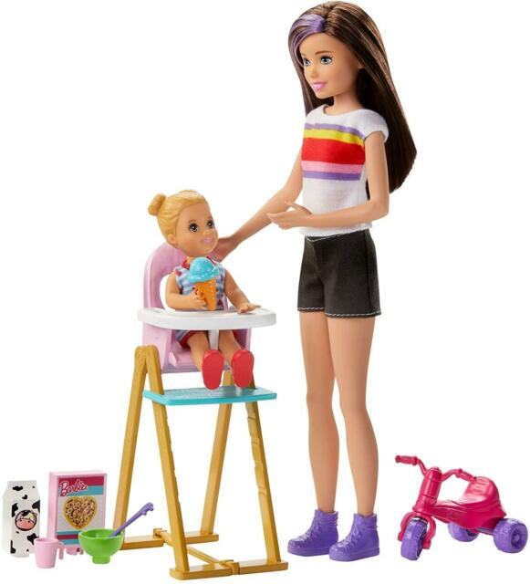 Barbie Babysitter Feeding Time Barbie Dress Up Doll