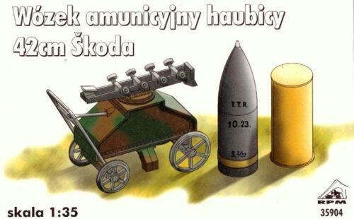 t AMMO /& MUNITION TROLLEY  to SIEGE HOWITZER  1//35 RPM 42cm SKODA M.14//16//17