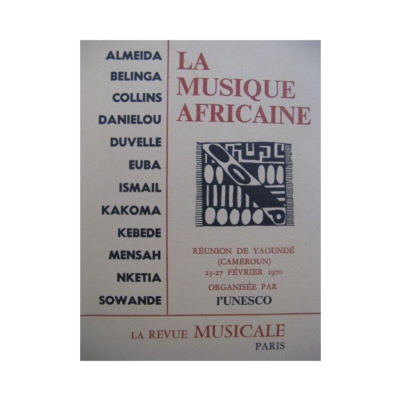 Die Musik afrikanischer Reunion Yaoundé 1970 Partitur sheet music score