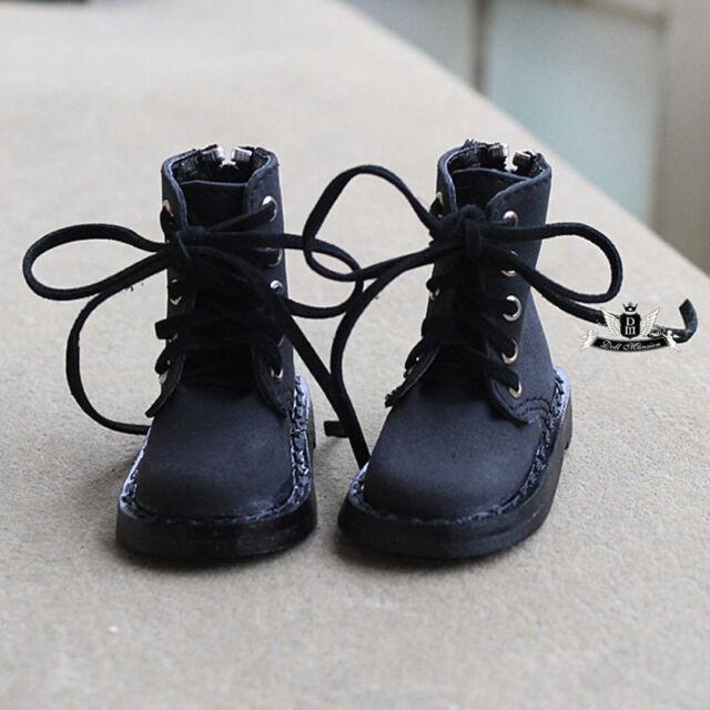 1/3 BJD Shoes SD13 Dollfie MID Nubuck leather black Boots EID DOD AOD Dollmore