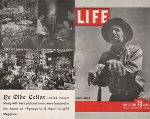 Vintage LIFE MAGAZINE POST CARD YE OLDE CELLAR Chicago 1946