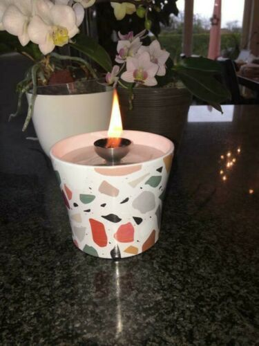 Melting light candles wax remains Wick Holder Fiber Lamp Wick Fire in/&out