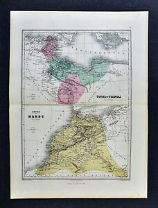 1877-Migeon-Map-Morocco-Tunis-amp-Tripoli-Tangier-Barbary-Coast-North-Africa