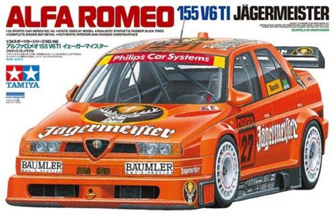 TAMIYA ALFA ROMEO 155 V6 TI JAGERMEISTER SCALA 1 24 COD.24148