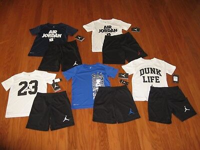 Nike 2 Piece T-Shirt /& Shorts Outfit Set Boys Size 4//5//6//7 NWT