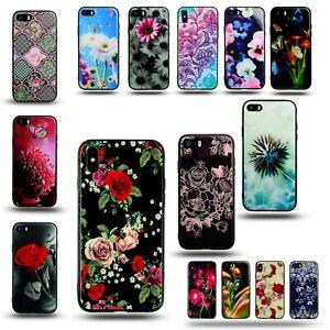 Dettagli su Per APPLE IPHONE 5S Bicchiere Indietro Gel di Silicone Telefono Cover Fiori Floreale Rosa- mostra il titolo originale