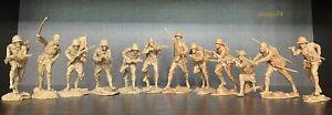 Plastique peloton les soldats japonais WW2 jouet soldats 1:32 Neuf 2 jeux