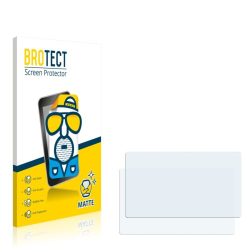 2x BROTECT Matte Screen Protector TomTom Start 25 M Europe Traffic Protection