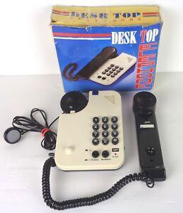 Telefon-Schreibtisch-TOP-Telefon-VINTAGE-ANNI-80-zweifarbig-Kitsch