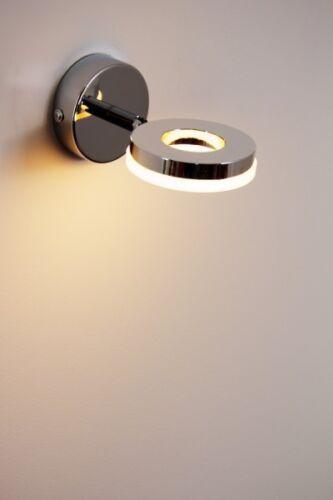 Flurlampe Design LED Wandleuchte Wandstrahler Chrom Wandspot Wandlampe Leuchte