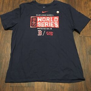 best sneakers ae1ca 5d2aa Details about Boston Red Sox Nike 2018 World Series Bound Cotton T-Shirt AL  Champions Size XXL
