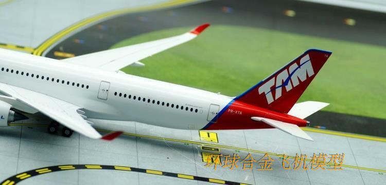 1 200 200 200 33CM JC WINGS TAM AIRBUS A350-900 Passenger Airplane Diecast Plane Model b0d772