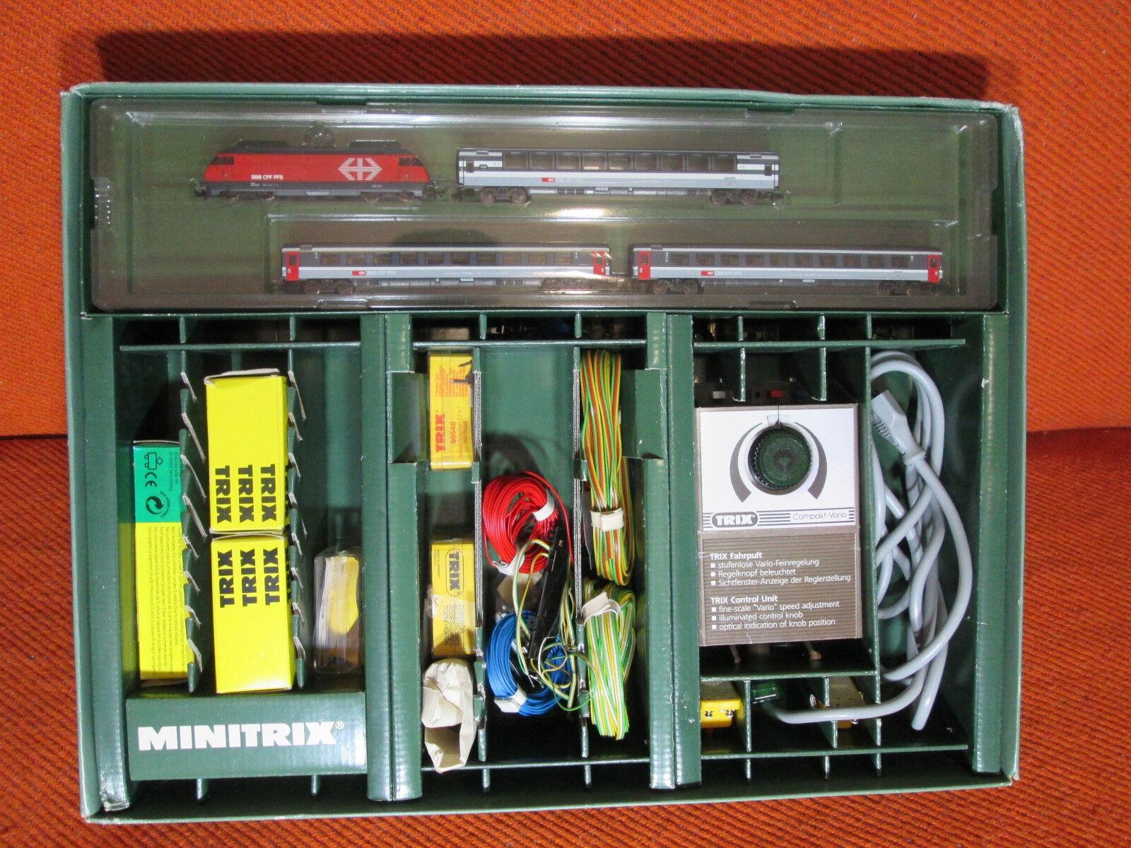 Minitrix 2000 sbb cff ffs N scale Set vintage 94. E-Lok Swiss N 9mm
