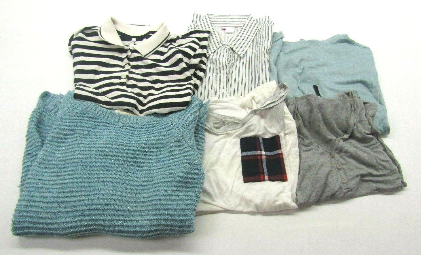 Women's Medium Mixed Brands & Styles Sweater, Blouse, T-Shirt Tops Lot of 6
