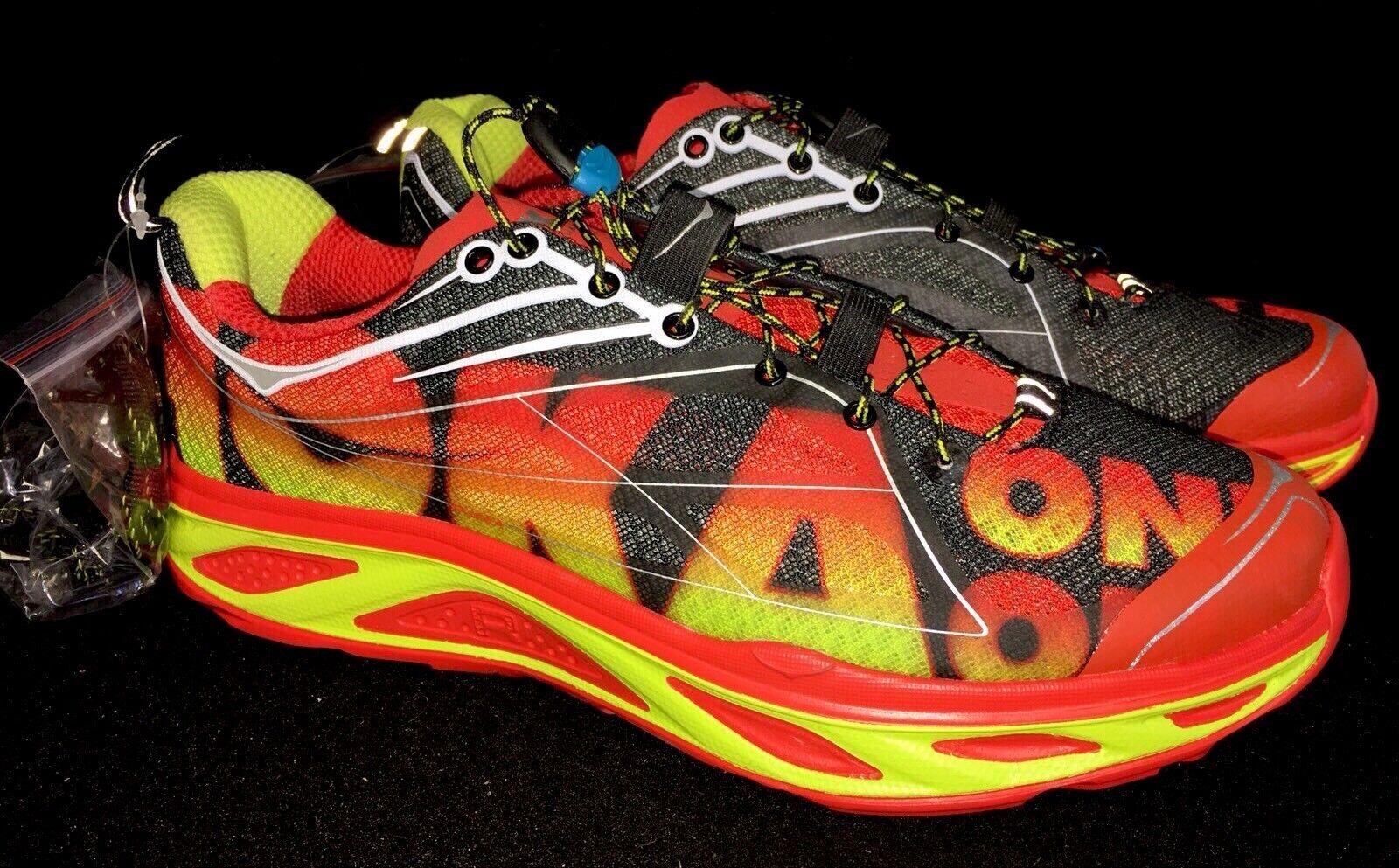 Hoka huaka Naranja Flash One One ácido Para hombres Zapatos para Correr Tenis