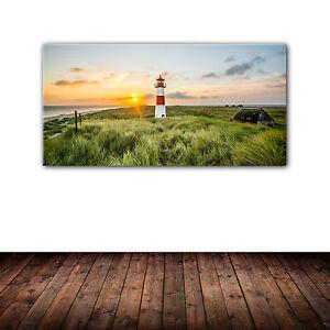 sylt leuchtturm list d ne kunstdruck auf leinwand 50 x 100 cm panorama wandbild ebay. Black Bedroom Furniture Sets. Home Design Ideas