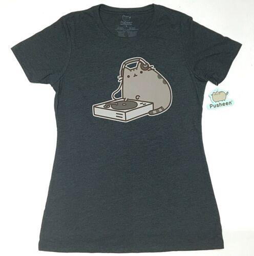 Pusheen The Cat DJ PUSHEEN Girls Junior T-Shirt NWT Licensed /& Official
