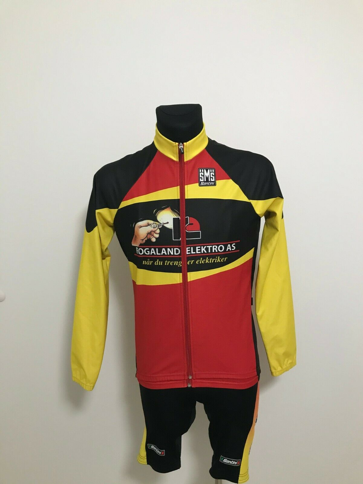 Santini Cycling Kit Bibs Shirt and Jacket Gore WindStopper Größe L