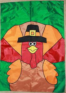 Thanksgiving-and-Fall-Hanging-Wall-Decor-Turkey-Pilgrim-Flag-Huge-39-034-x-27-5-034