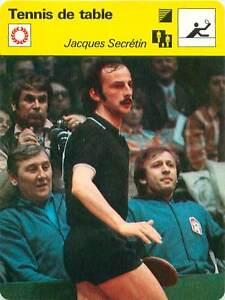 FICHE-CARD-Jacques-Secretin-France-Pongiste-Ping-pong-TENNIS-de-table-1970s