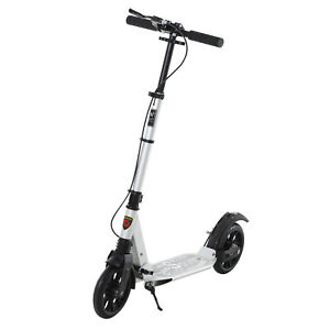 Adult//Teen Push Scooter Kick-Fold Design Black Leisure Ride-on Max Weight 100kg