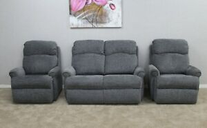 G-Plan-Norton-Boucle-Grey-Fabric-Static-2-Seater-Sofa-amp-2-Static-Armchairs