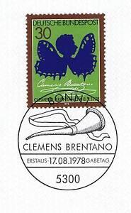 Rfa 1978: Clemens Brentano Nº 978 Avec Bonner Ersttags-cachet Spécial! 1a! 153-rstempel! 1a! 153fr-fr Afficher Le Titre D'origine Apparence éLéGante