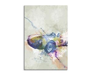 90x60cm-PAUL-SINUS-Splash-Art-Gemaelde-Kunstbild-James-Dean-Porsche-I