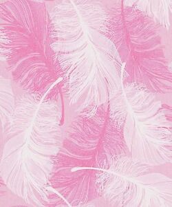Image Is Loading Coloroll Feather Pink White Glitter Luxury Feature Designer