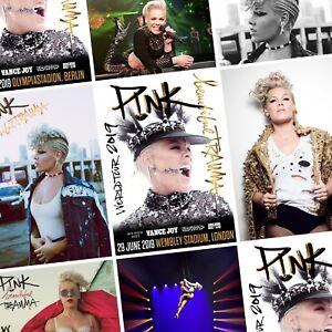 DéTerminé P!nk Beautiful Trauma 2019 Uk Europe World Tour Photo Print Posters Pink Singer