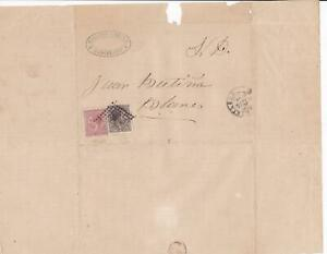 Spain 19th centuary stamps cover Ref 8418
