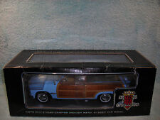 1/18 1949 FORD WOODY WAGON IN BABY BLUEREAL WOOD BY MOTOR CITY CLASSICS.