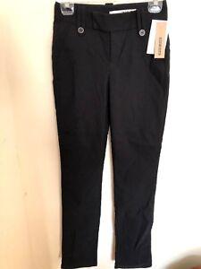 2 Noir Stretch Jeans nylon Taille Pantalon Taille Nwt 716456362424 élasthanne Dkny Rayonne Basse xBSw0B