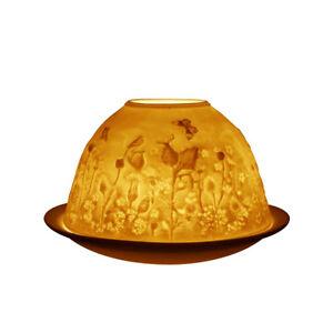 Light-Glow-Dome-Tealight-Holder-Thistle-Gift-Wildlife-Butterflies-Bird-Cute