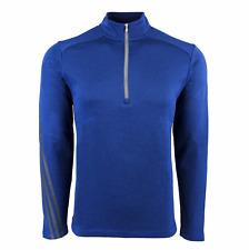 New Men's Adidas Athletic Gym Shirt Golf Brushed Terry Heather 1/4 Zip Jacket