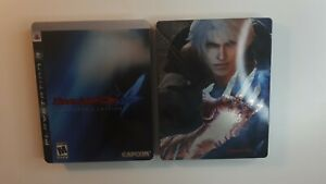Devil-May-Cry-4-Collector-039-s-Edition-PS3-Complete-Steelbook-with-game-only
