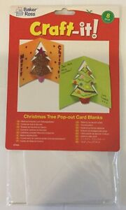 Baker-Ross-Christmas-tree-pop-out-card-blanks-pk-8-yellow-green-orange-A6