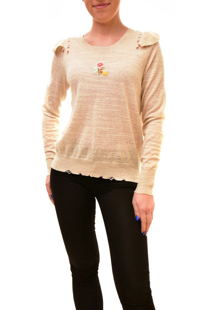 Wildfox Woherren Authentic Spring Bloom Sweater Nude Größe S RRP  BCF84