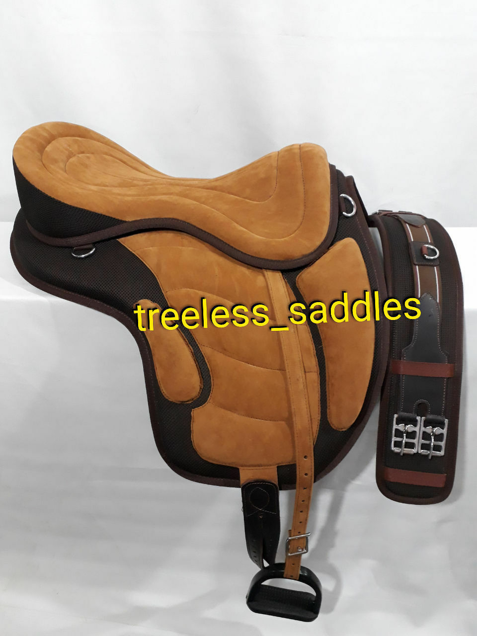 All Purpose   Freemax saddle Synthetic  brown Tan color Saddle all size