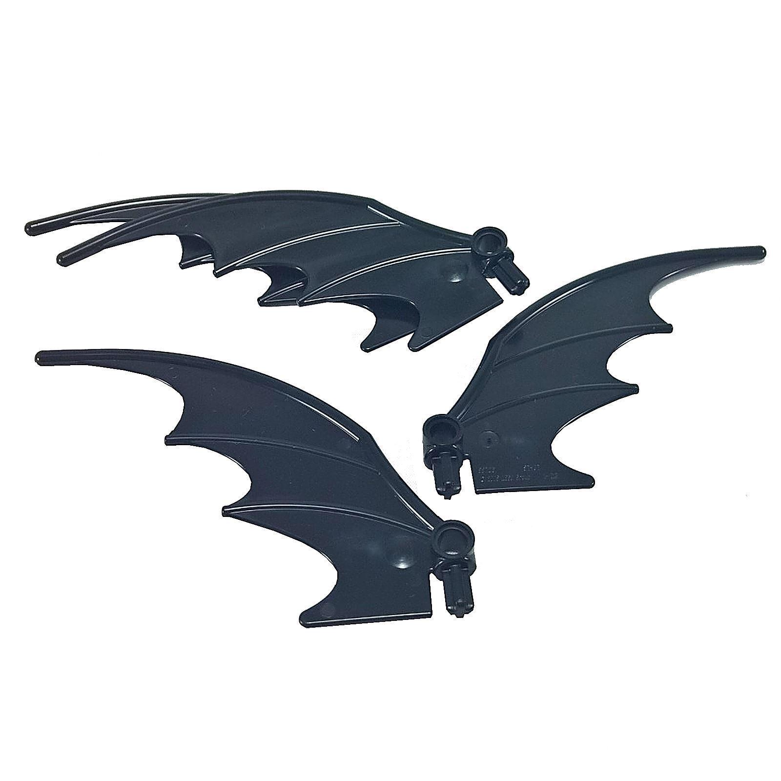 Lego Lot of 1 Pair of Dark gray Dragon Wings