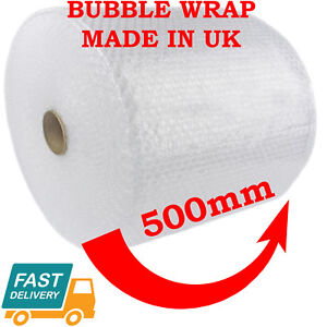 500MM x 100M SMALL BUBBLE WRAP CUSHIONING QUALITY BUBBLE 100 METERS LONG ROLL 7091043707264