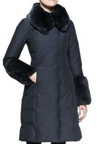 SZ 16-52 Oversized Faux Fur-Trim Long Puffer zipped Coat JY004 Plus 1x-10x