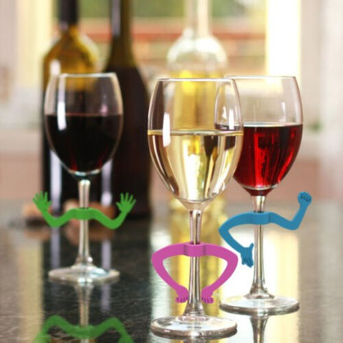 Home & Garden Wine Glass Charms 6 pcs Wine Glass Marker Silicone ...
