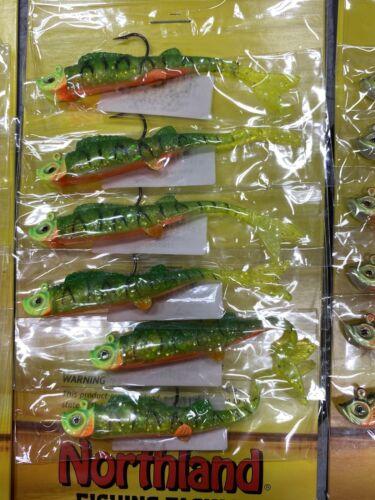 NORTHLAND MIMIC MINNOW Set 5 Rainbow Trout Glow Chub Firetiger Crappie Perch