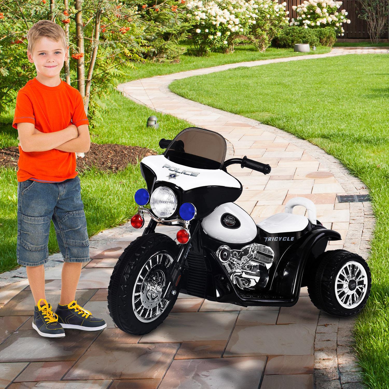 6V 6V 6V Kids Ride On Police Motorcycle Electric Battery Powered Trike Car Toy Gift 205872